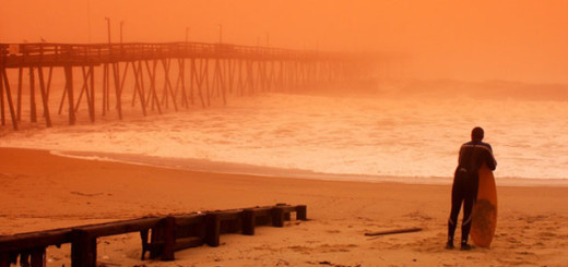 Morning fog at Avalon Pier. Photo by Mickey McCarthy.