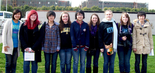 Amanda (red hair, second from left) with Chinese and FFHS exchange students in Wuxi, China last year.