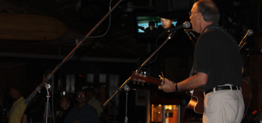 David Neal perfomring at Kelly's during the Outer Banks Sounds CD release party, May 17.