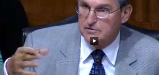 Senator Manchin. Image taken from video of the hearing