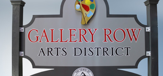 New Gallery Row Ars District Sign soon to be installed in Nags Head.