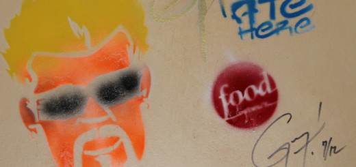 Guy Fieri's signature stencil at the Outer Banks Brewing Station.