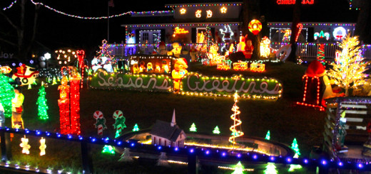 Poulos house in Kill Devil Hills. The Poulos family has put on a Christmas light spectacular for the Outer Banks for at least the past 15 years.