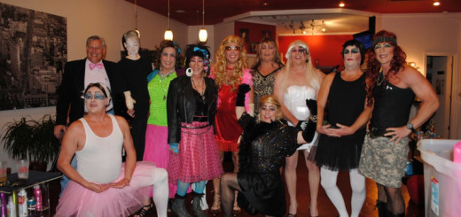 Last year's womanless beauty contestants. Sponsored by Brindley Beach Vacations, this year's April 11 contest looks even better.