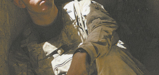 Elijah Burge in Afghanistan.