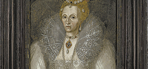 Portrait of Queen Elizabeth I owned by the Outer Banks Elizabethan Gardens.