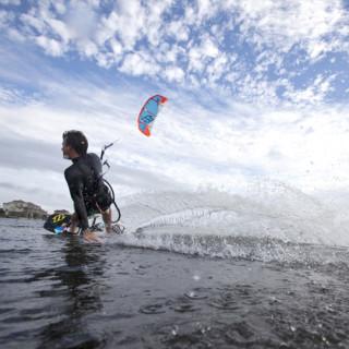 Brian Klauser slices through the water. Photo by Drew McKenzie.