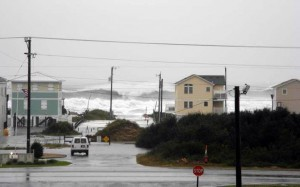 One of many Sandy images from the Oregon Inlet Idiots' Facebook page.