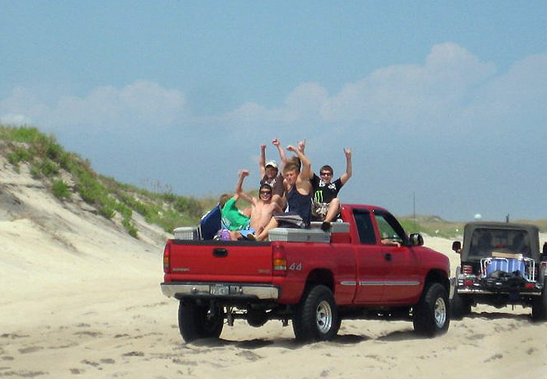 "Comment from Oregon Inlet Idiots: ""Is this a Clown Car or what? One rut, one bounce.....can you say face plant or worse. Just sayin!"""