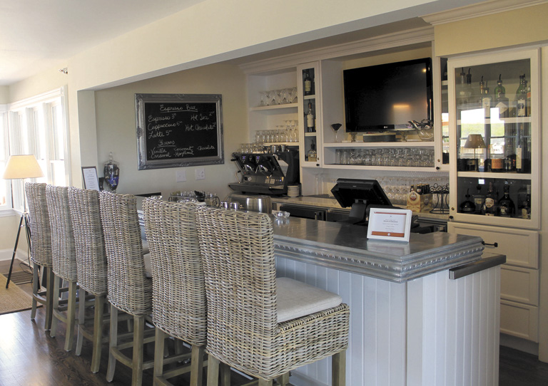 Beach House Bar-perfect for an early morning espresso or afternoon light fare, or a drink in the evening.