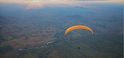 Still from the movie, the Boy Who Flies. Paragliding in Malawi.