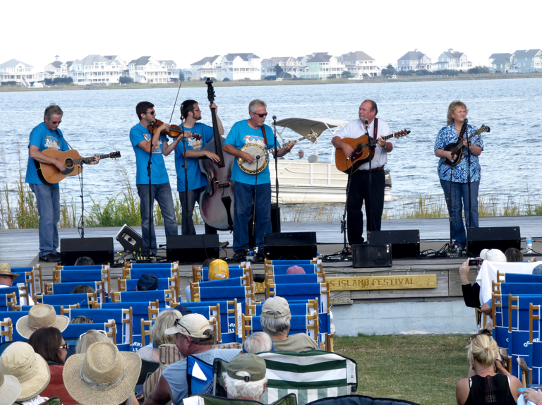 The The James King Band performing Friday afternoon.