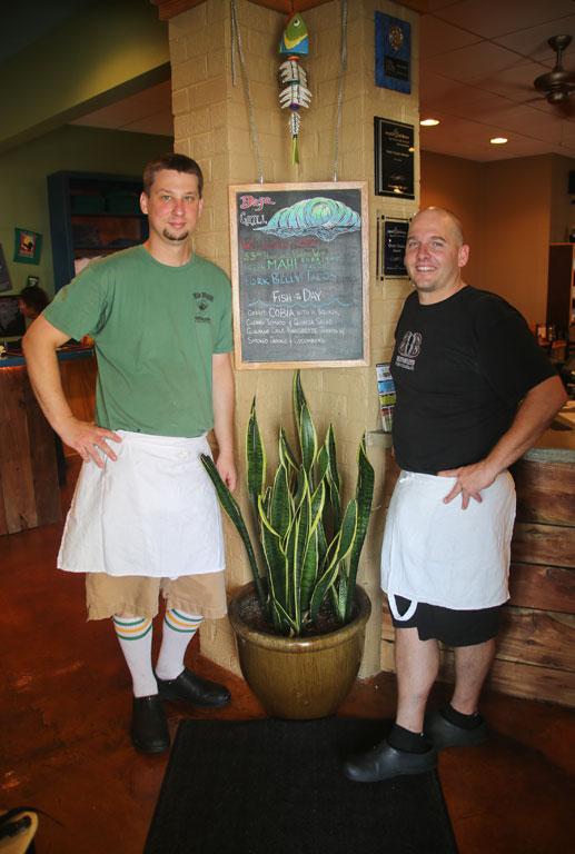 Chef Matt Payne and Rob Robinson of Bad Bean Baja Grill.