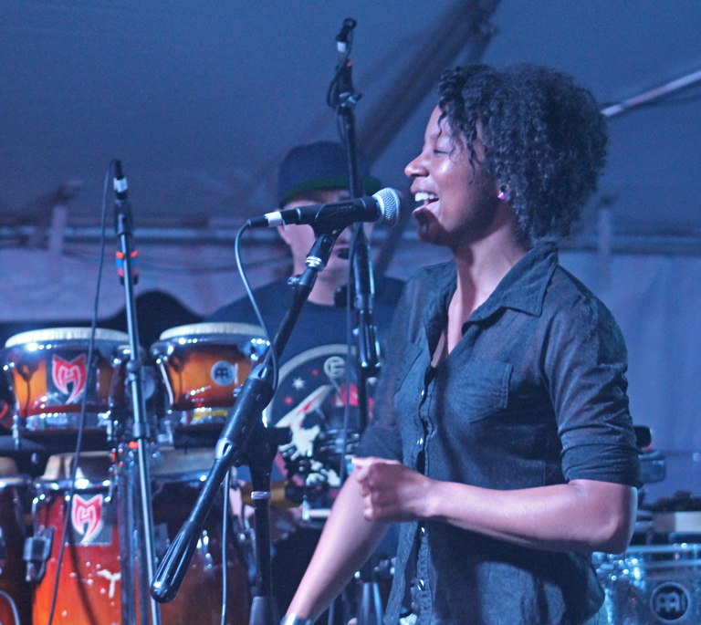 Tiffany Austin, lead vocalist for Ogone.