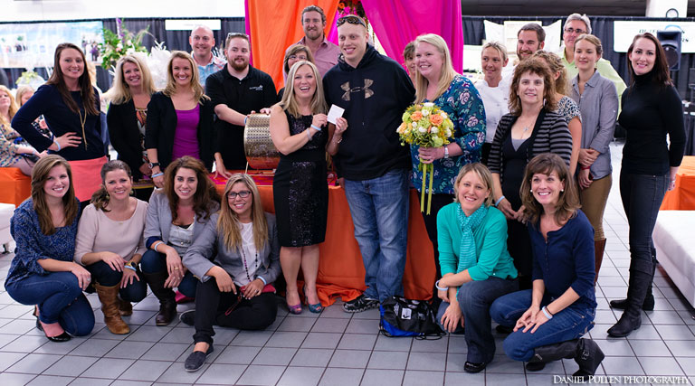Winners of 2012 Dream Vacation at Wedding Expo. Photo Daniel Pullen Photography.