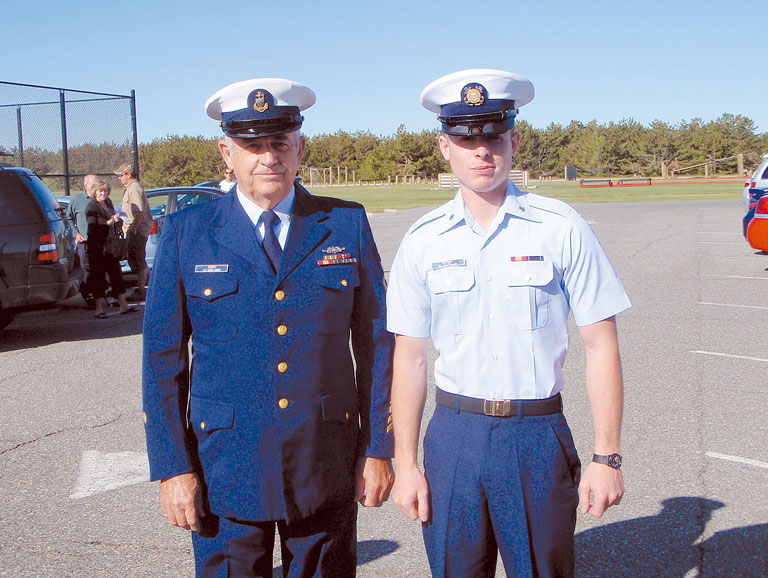 with Grandson, Joseph Perry, at Coast Guard Basic Training Graduation, May  2008. Joe's current rank is E5. Joe's sister, Amy, is also serving in the  Coast ...