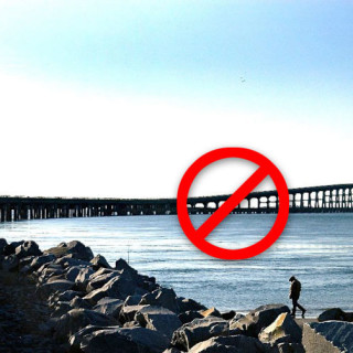 The Bonner Bridge, closed for repairs.