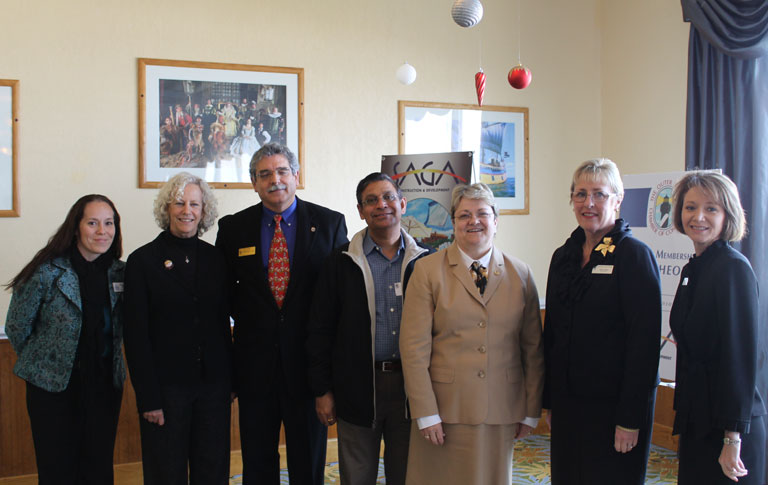 Elizabeth Piff, Dare Education Foundation; Nancy White, Coastal Studies Institute; Mike Pringle, Chair Outer Banks Chamber of Commerce; Prem Gupta, SAGA Construction; Dr. Sue Burgess, Superintendent Dare County Schools;Allison Sholar, Superintendent Currituck County Schools; Dr. Kandi W. Deitemeyer, President COA.