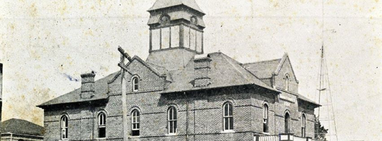 Manteo Courthouse with belfry. Image from Manteo Preservation Trust page.