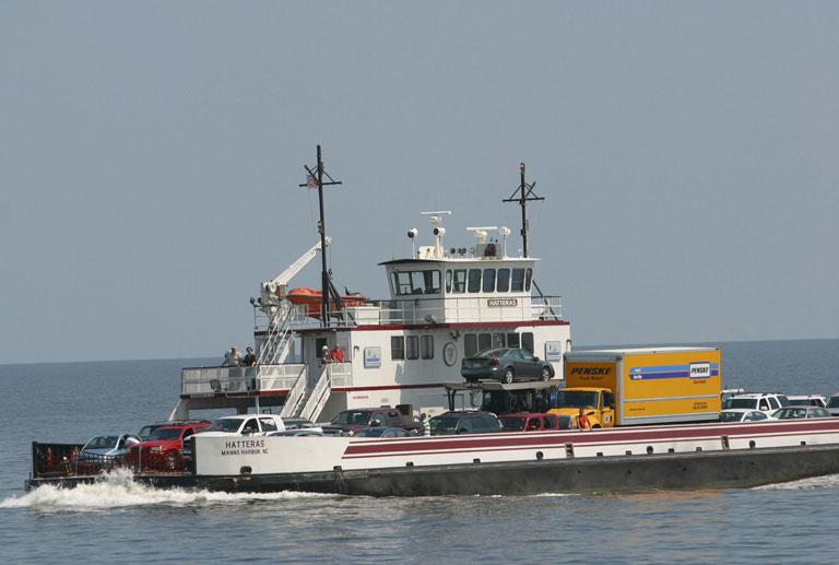 NC Ferry on Pamlico Sound.