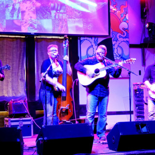 Nu Blu performing at the Outer Banks Brewing Station on Sunday night. Photo, Kip Tabb