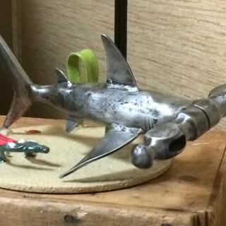 A true hammerhead, by blacksmith artist, Randy Hodges.