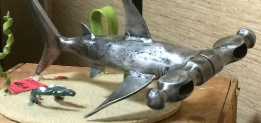 A true hammerhead, by blacksmith artist, Randy Hodges.