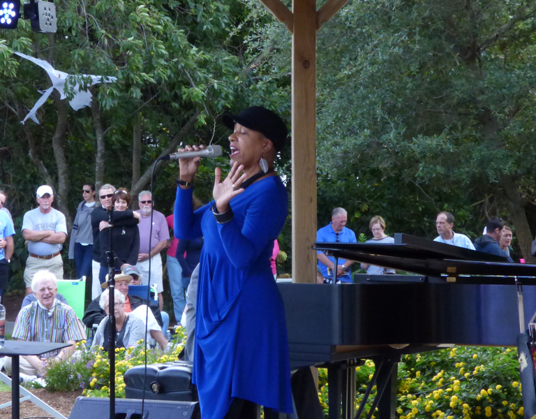 Rene Marie in performance at the Duck Jazz Festival.