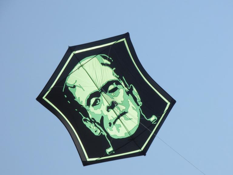 Kevin Shannon's handmade kite, Frankenstein.