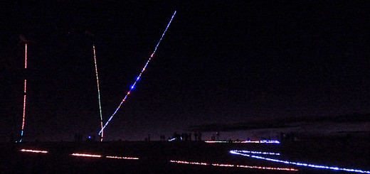 The night skit at Jockey's Ridge during Kites with Lights.