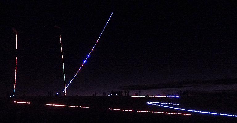 The night skit at Jockey's Ridge during Kites with Lights.