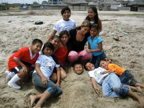 yoga kids beach