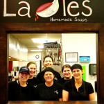 The Ladles crew takes a quick break for a photo shoot.