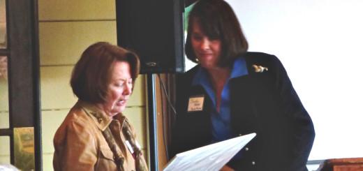 Dorothy Hester presenting Champion Award to Jane Webster.