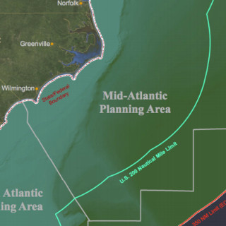 Mid Atlantic areas that will be available for energy lease, including wind and gas and oil.
