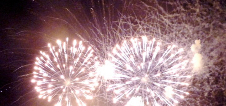 Fireworks over Manteo.