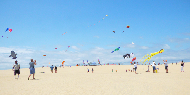 A great turnout on Saturday for the Rogallo Kite Festival.