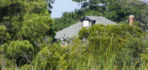 The top of Dews Island Hunt Club from the Currituck Sound.