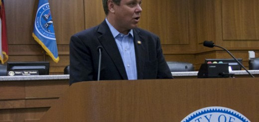"""Paul Tine speaking at the Dare County press conference. """"It's not a very good plan."""""""