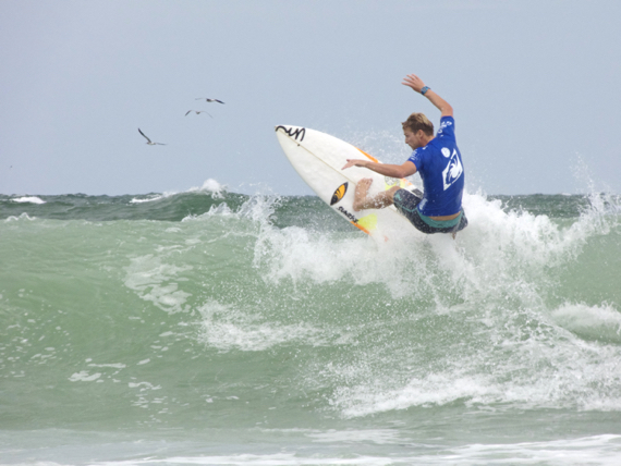 Going up for air at the 2015 WRV Pro World Surf Competition at Jennette's Pier.
