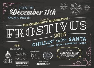 The Frostivus flyer, designed by Access Designs.