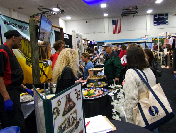 Checking out the the latest info on weddings at the 2016 Outer Banks Wedding Expo.