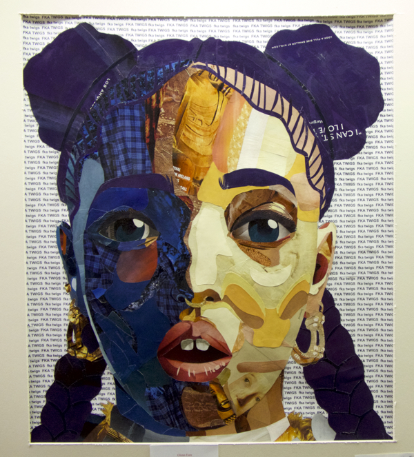 Portrait Collage by Samantha Fonseca. Portrait is FKS Twigs, British blues and pop performer.