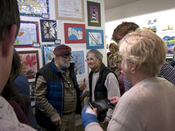 Glenn and Pat Eure who have donated the use of the Ghost Fleet Gallery to Dare County Schools for at least 28 or 29 years.