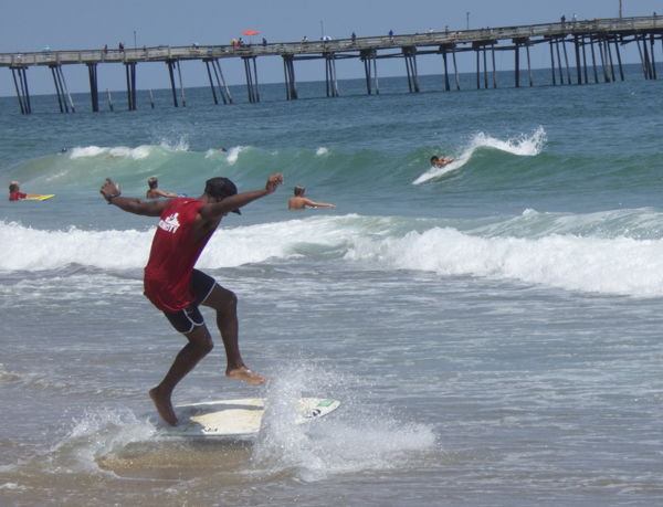Scene from July Skimboard competition in Kill Devil Hills. Photo, Kip Tabb