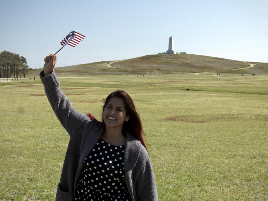 Juliana Vaca-Triperri, as a newly sworn in US citizen.