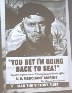 WWII Merchant Marine poster.