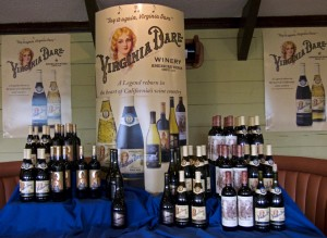 Virginia Dare Wines waiting to be poured at Pamlico Jack's.