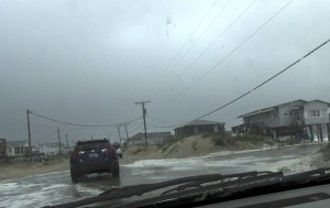 The Beach Road. Flooded at high tide in Kitty Hawk.