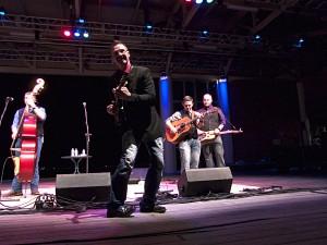 Darrell Webb rocking out on mandolin.